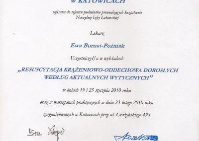 StomaDiet - Stomatologia Bytom Certyfikat 5 Ewa Burnat-Poźniak